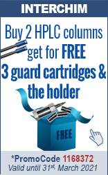Buy 2 HPLC columns, get for free 3 guard cartridges & the holder