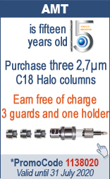 Purchase three 2.7µm C18 Halo Columns Earn free of charge 3 guards and one holder